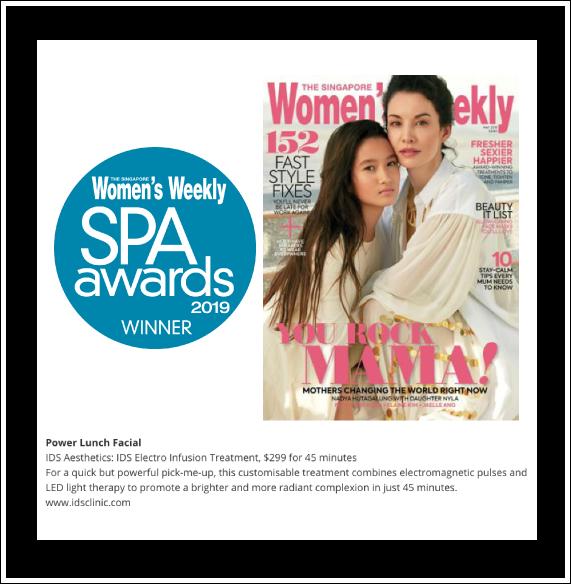 Singapore Women's Weekly SPA Awards 2019