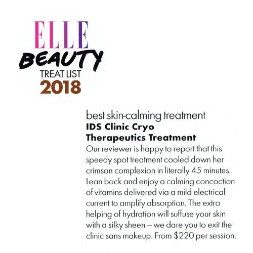 Elle Beauty Treat List 2018